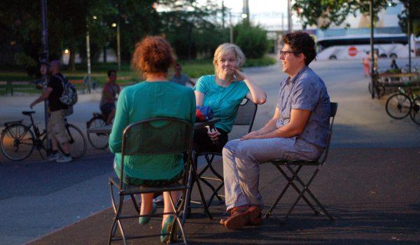 vor der Preview von Sitzfleisch (Lisa Weber A 2014)
